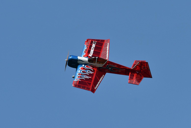 A model aerobatics plane
