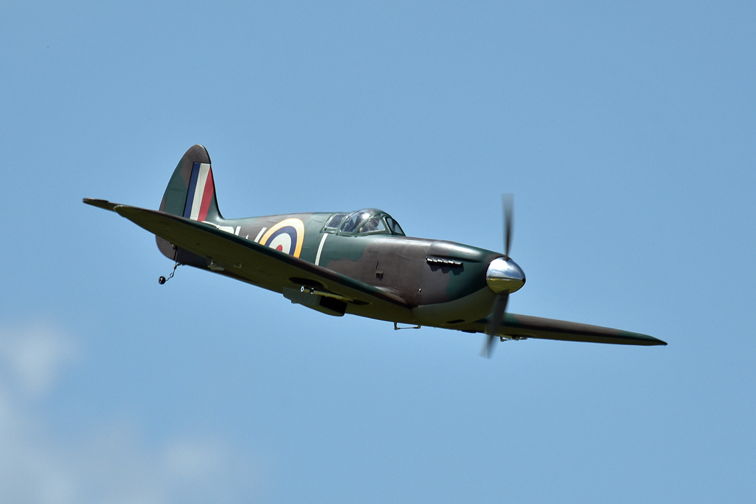 A model Spitfire approaching