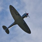 Picture of a Spitfire plane from below