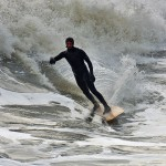 Picture of a surfer in action