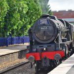 Picture of the steam locomotive Scots Guardsman in Aldermaston Station