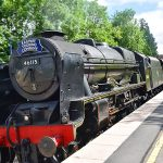 Picture of the steam locomotive 46115 Scots Guardsman