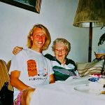 Picture of Armin and Grandmother (Oma) in 1989
