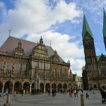 Picture of the Bremer Rathaus (town hall) and Bremer Dom (cathedral)