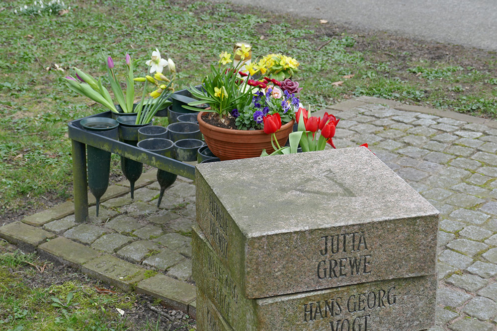 Picture of our mother's grave marker