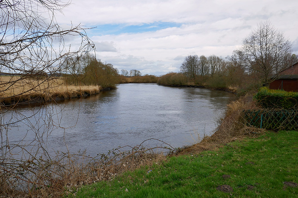 Picture with an impression of the River Wuemme