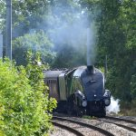 Picture of steam locomotive 60009 Union of South Africa approaching