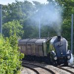 Picture of steam locomotive 60009 Union of South Africa getting closer