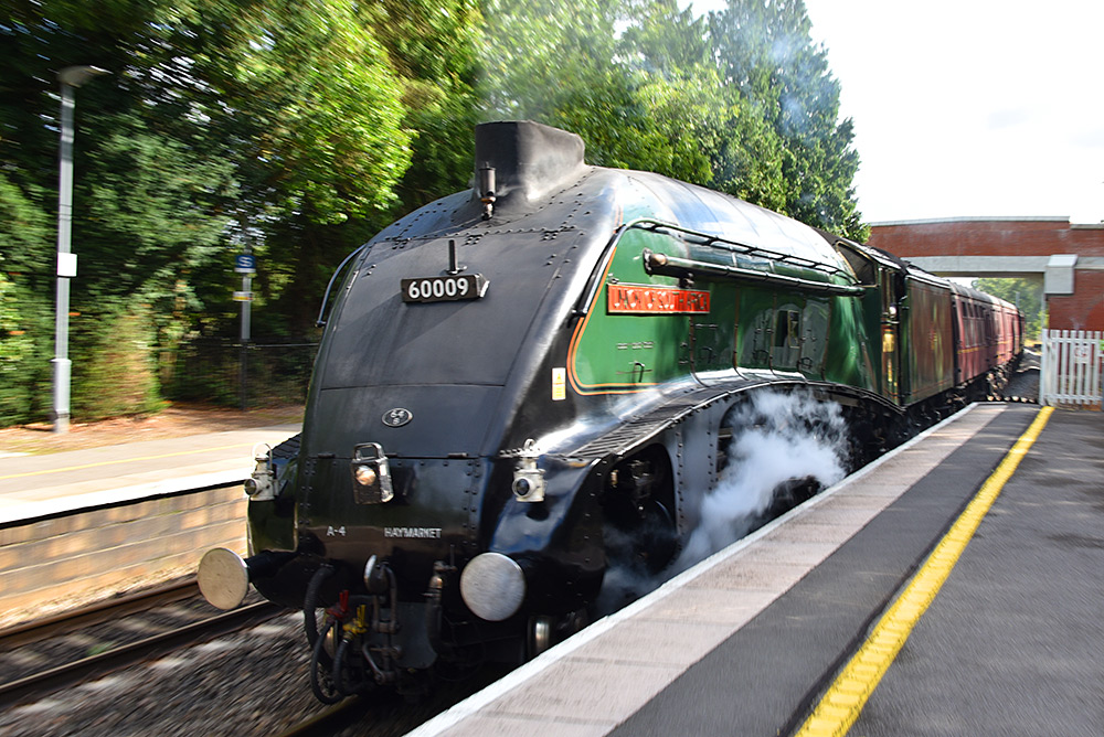 Picture of steam locomotive 60009 Union of South Africa in a close up view