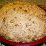 Walnut and Hemp Bread (3) - Dough has risen
