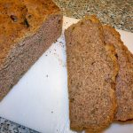 Walnut and Hemp Bread (5) - The bread cut open