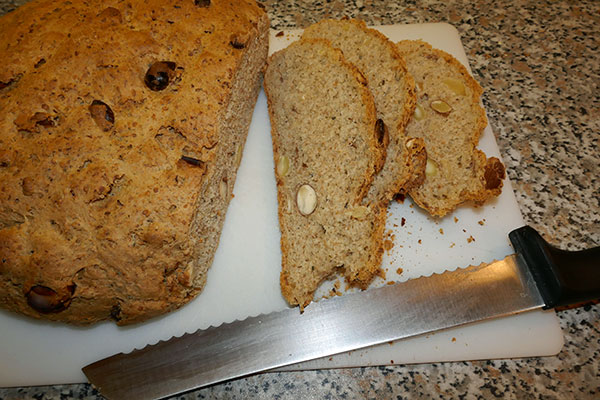 (4) Cut Hemp Cashews Almond bread