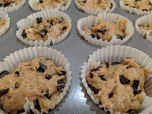 Picture of Blueberry & Dark Chocolate Chip Muffins (before baking)