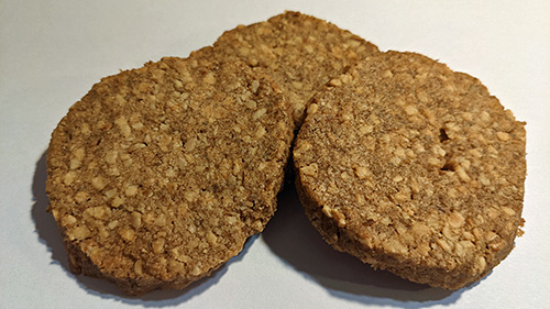 Picture of three pieces of Almond Rye Shortbread